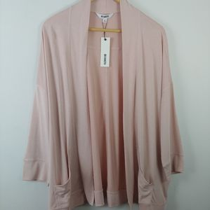 BB Dakota blush pink soft open front cardigan